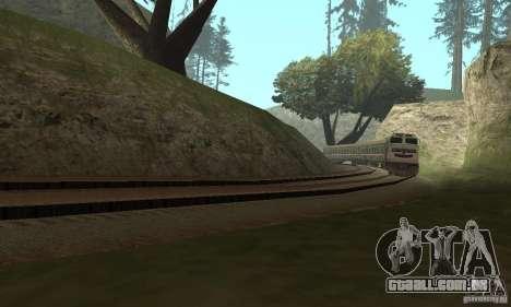 O carro das ferrovias russas 2 para GTA San Andreas traseira esquerda vista