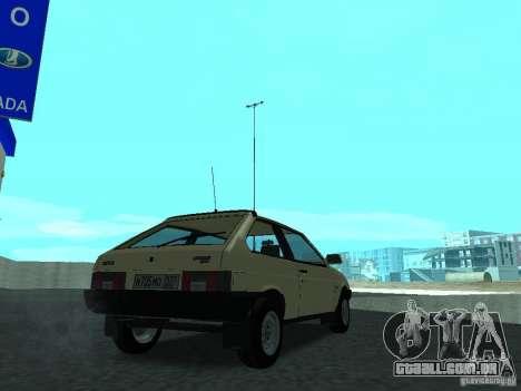 VAZ 2108 CR v. 2 para GTA San Andreas traseira esquerda vista