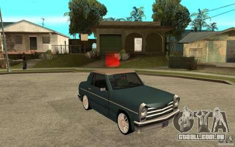 Perenial Coupe para GTA San Andreas vista traseira