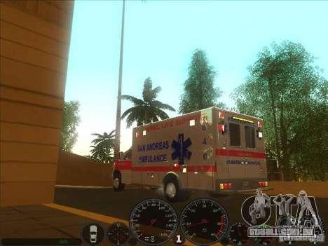 Ford E-350 Ambulance 2 para GTA San Andreas esquerda vista