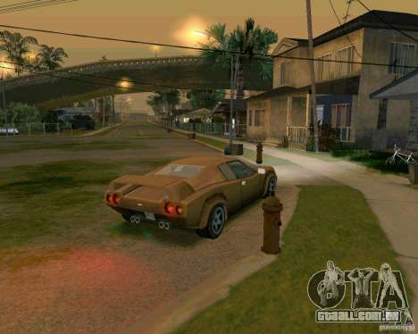 Infernus from Vice City para GTA San Andreas traseira esquerda vista