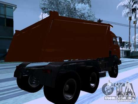 KAMAZ 54115 caminhão para GTA San Andreas vista direita