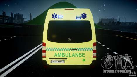 Mercedes-Benz Sprinter PK731 Ambulance [ELS] para GTA 4 rodas