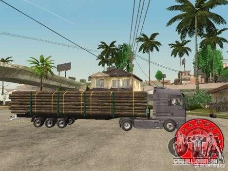 O portador de madeira reboque KRONE para GTA San Andreas esquerda vista