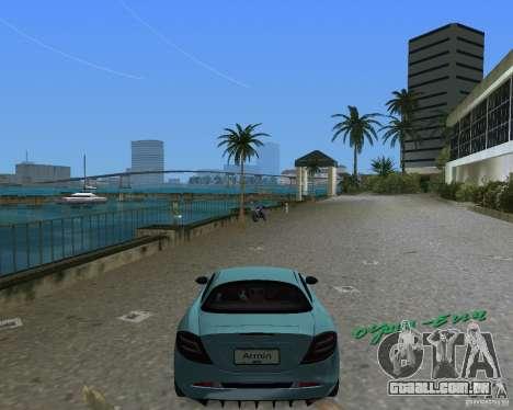Mercedess Benz SLR Maclaren para GTA Vice City vista direita
