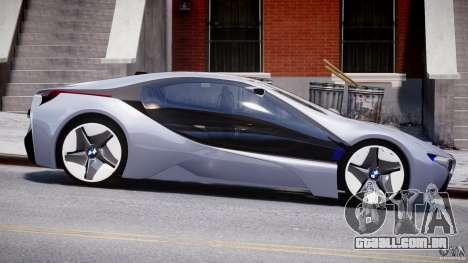 BMW Vision Efficient Dynamics v1.1 para GTA 4 vista interior