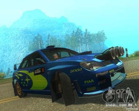Subaru Impreza WRX STI DIRT 2 para GTA San Andreas esquerda vista