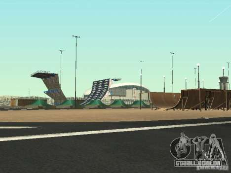 Drift track and stund map para GTA San Andreas segunda tela