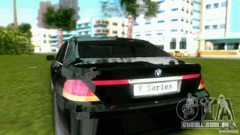BMW 7-Series 2002 para GTA Vice City vista direita