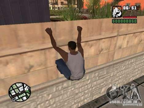 PARKoUR para GTA San Andreas por diante tela