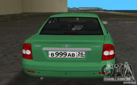Lada 2170 Priora para GTA Vice City vista interior