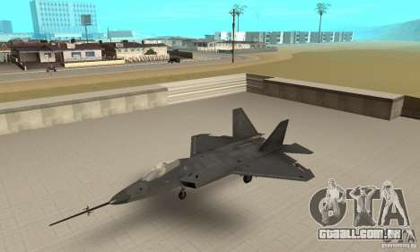YF-22 Black para GTA San Andreas