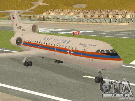 Yak-42 EMERCOM da Rússia para GTA San Andreas