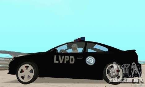 Pontiac GTO 2004 Cop para GTA San Andreas vista direita