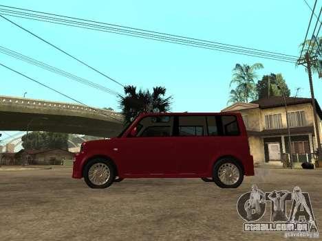 Toyota BB para GTA San Andreas esquerda vista