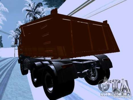 KAMAZ 54115 caminhão para GTA San Andreas traseira esquerda vista
