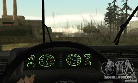 Vaz 2107 Stock v.2 para GTA San Andreas vista interior
