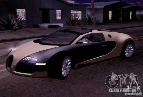 Bugatti Veyron Grand Sport Classic Final para GTA San Andreas esquerda vista