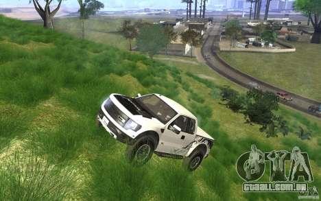 Ford F150 SVT RapTor para GTA San Andreas vista inferior