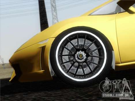Lamborghini Gallardo LP640 Vallentino Balboni para GTA San Andreas vista interior