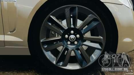 Jaguar XFR 2010 v2.0 para GTA 4 interior