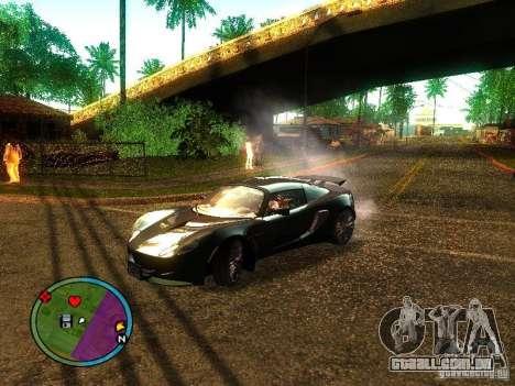 Lotus Exige - Stock para GTA San Andreas traseira esquerda vista