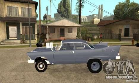 Plymouth Savoy Gasser 1957 para GTA San Andreas esquerda vista