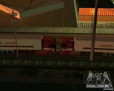Scania TopLine para GTA San Andreas vista interior