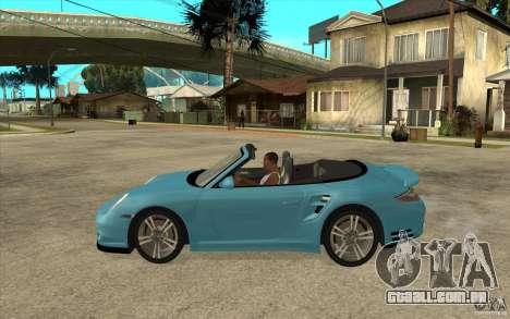 Porsche 911 Cabriolet 2010 para GTA San Andreas esquerda vista