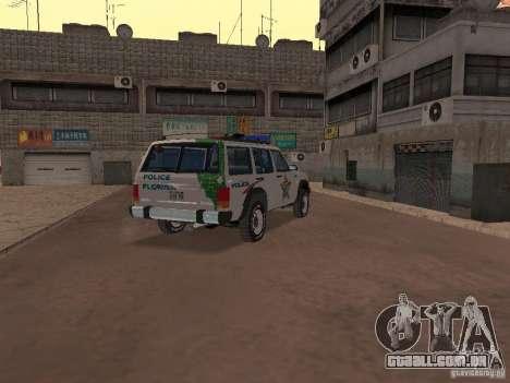 Jeep Cherokee Police 1988 para GTA San Andreas vista direita