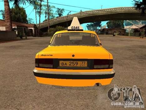 Volga GAZ-31105 táxi para GTA San Andreas interior