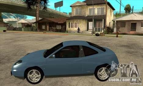 Fiat Coupe - Stock para GTA San Andreas esquerda vista