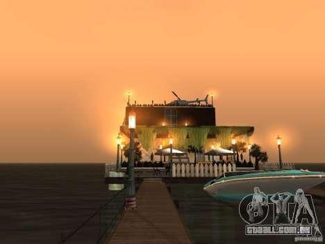 Clube sobre a água para GTA San Andreas oitavo tela