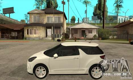 Citroen DS3 2010 para GTA San Andreas esquerda vista
