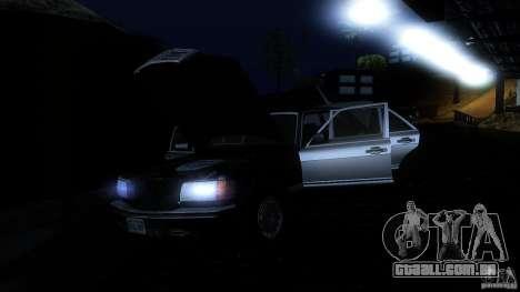 Mercedes Benz 560SEL w126 1990 v1.0 para GTA San Andreas vista inferior