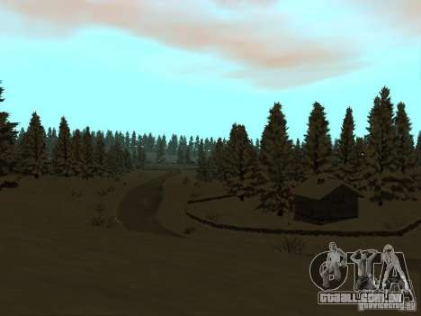 Trilha de inverno para GTA San Andreas quinto tela