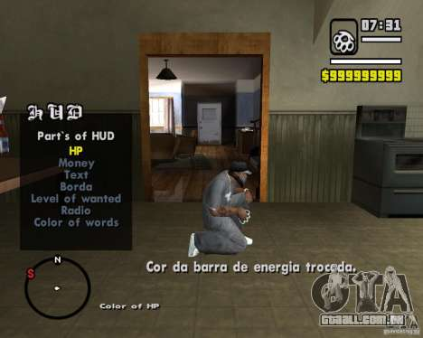 Change Hud Colors para GTA San Andreas terceira tela