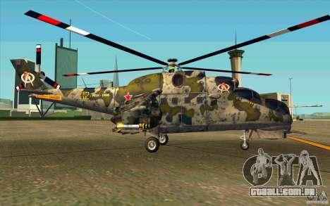Mi-24 para GTA San Andreas traseira esquerda vista