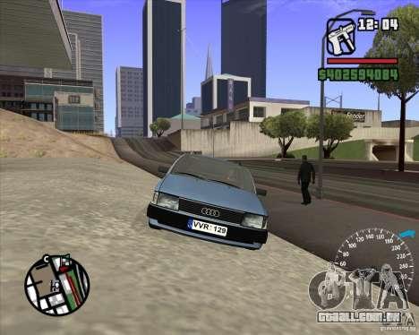 Audi 100 Avant para GTA San Andreas vista traseira