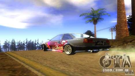 Toyota AE86 Coupe - Final para GTA San Andreas esquerda vista