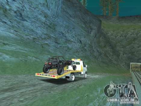 GAZ 3302 2003-2011. Caminhão de reboque para GTA San Andreas traseira esquerda vista