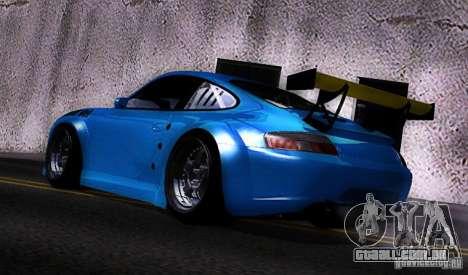 Porsche 911 GT3  RWB para GTA San Andreas traseira esquerda vista