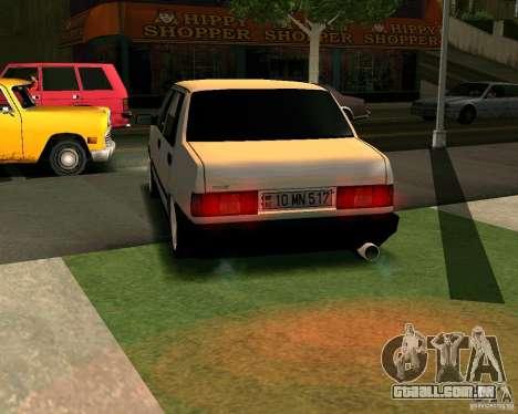 Tofas Dogan Azerbaycan para GTA San Andreas traseira esquerda vista