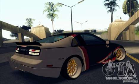 Nissan 300ZX Bad Shark para vista lateral GTA San Andreas