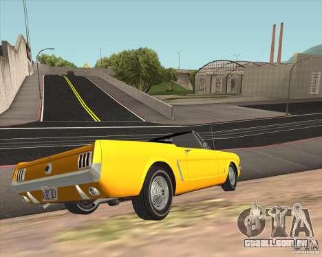 Ford Mustang 289 1964 para GTA San Andreas vista traseira