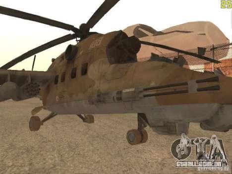 Mi-24p Desert Camo para GTA San Andreas esquerda vista