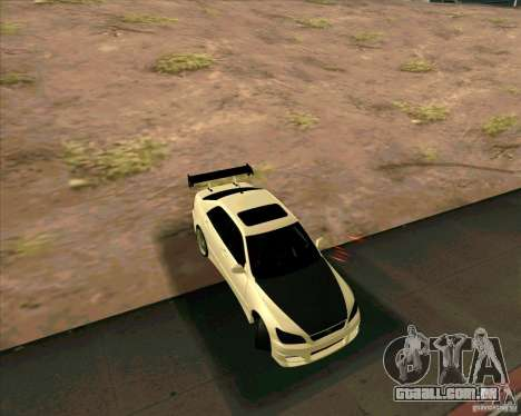 LEXUS IS300 Light tuned para GTA San Andreas traseira esquerda vista