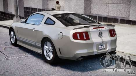 Ford Shelby GT500 2010 [Final] para GTA 4 traseira esquerda vista