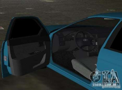 Lada Priora Hatchback para GTA Vice City vista traseira