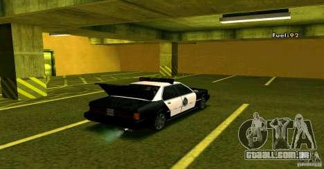 Sentinel Police LV para GTA San Andreas vista traseira